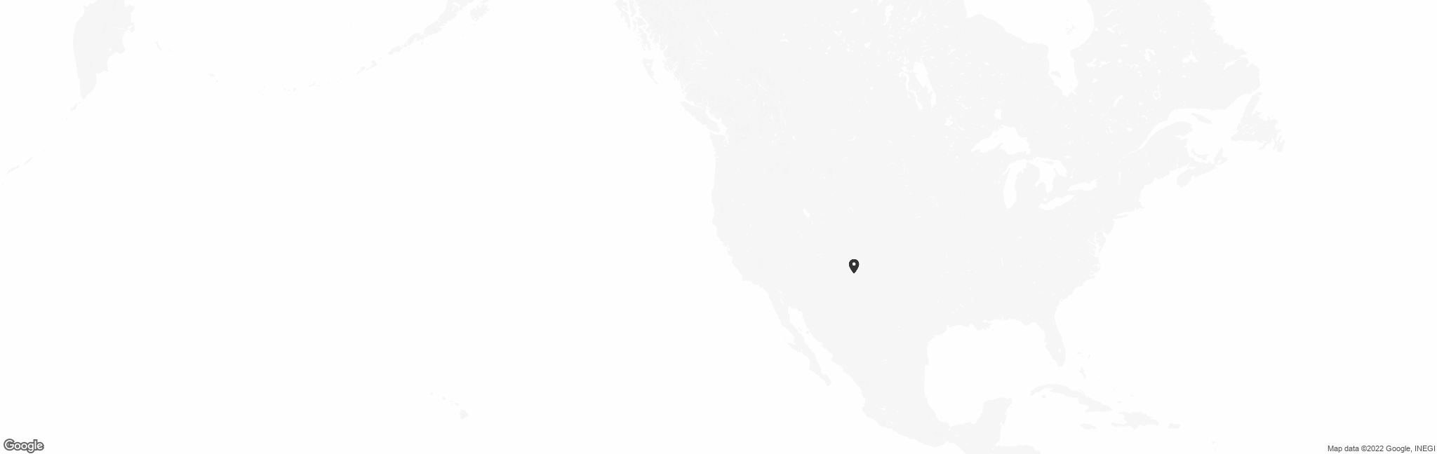 Map of US with pin of Paws To People location
