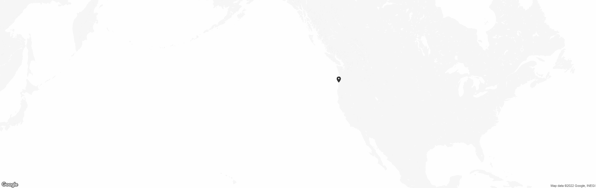 Map of US with pin of Oregon Boating Foundation location